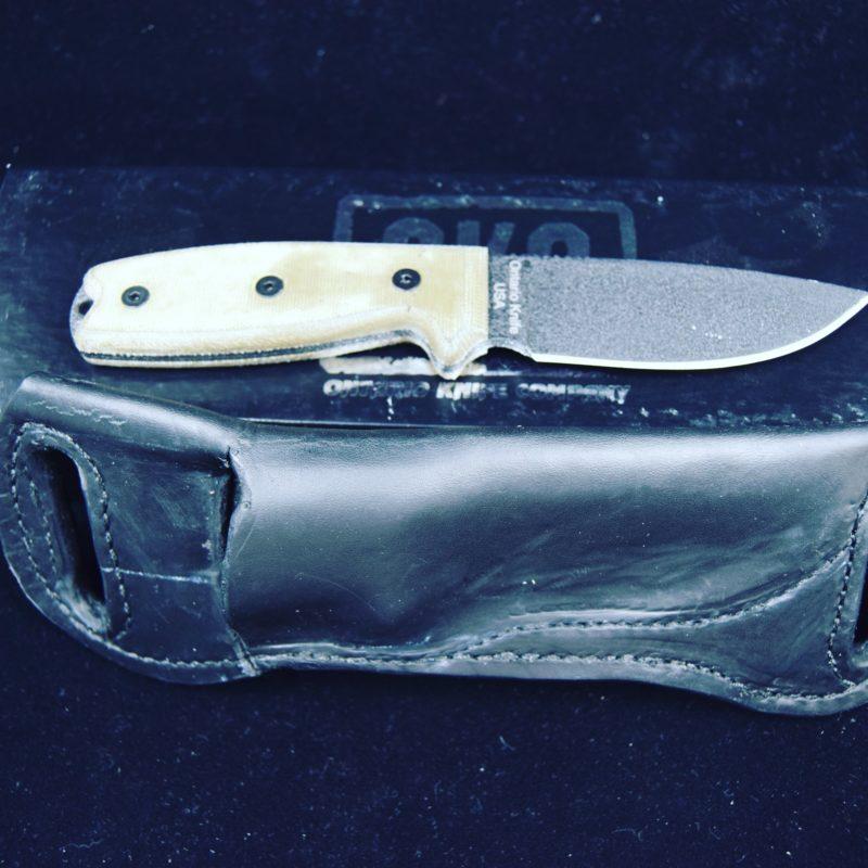 Okc Rat 3 Black Kydex Belt Sheath: Knife Sheath - OKC Rat 3 'pancake' Style